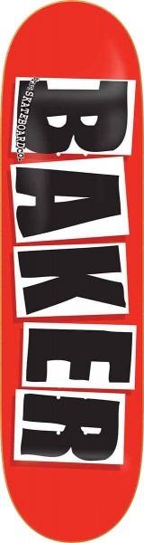 """Baker Brand Logo (red/black) 8,3"""" Deck"""