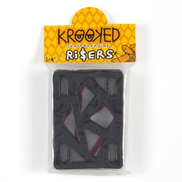 """Krooked Riser 1/4"""" Black"""