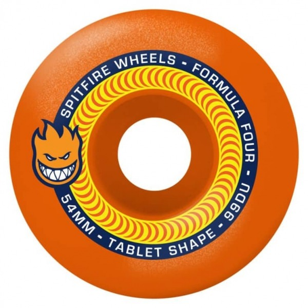 Spitfire Wheels Tablet Neon Orange F4 53mm