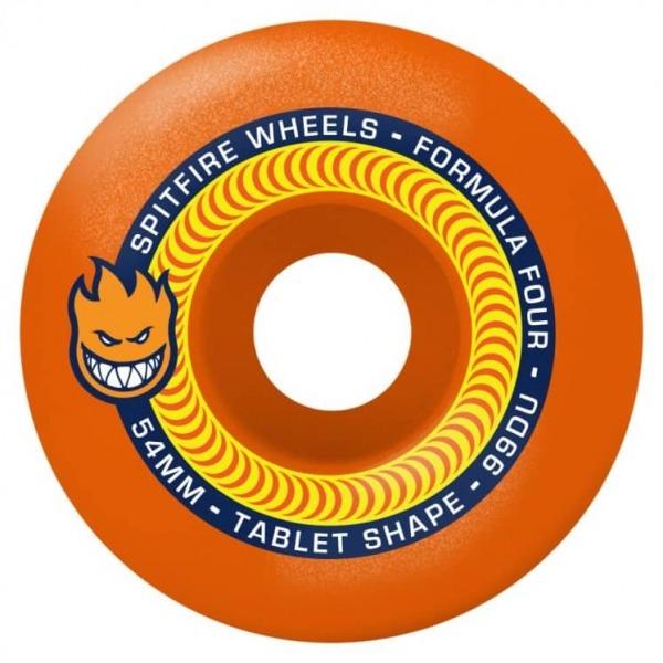 Spitfire Wheels Tablet Neon Orange F4 54mm