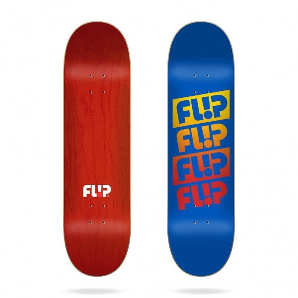 """Flip Team Quattro Faded Royal Blue 8.13"""" Deck"""