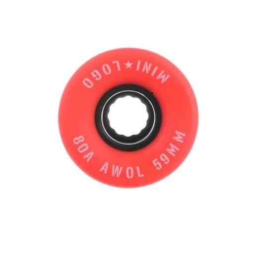 Mini logo rollen A.W.O.L 59mm 80a Red