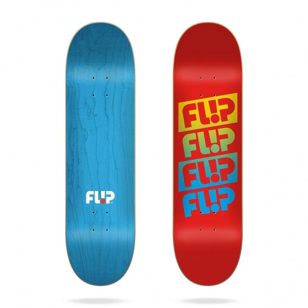 "Flip Team Quattro Faded Red 7.75"" Deck"