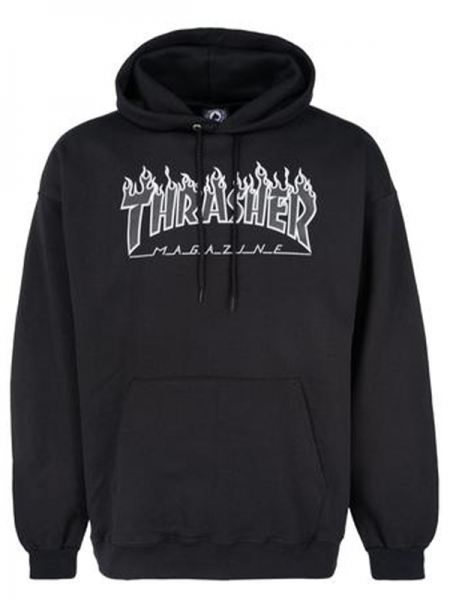 Thrasher Flame Hoodie Blk/Blk