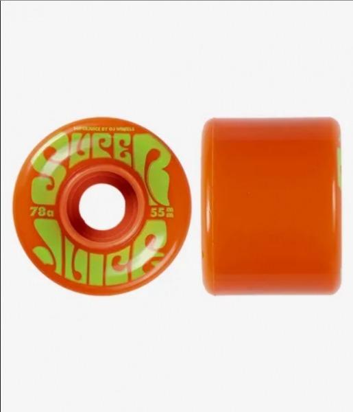 Oj Wheels Mini Super Juice Rollen Orange 55mm 78a